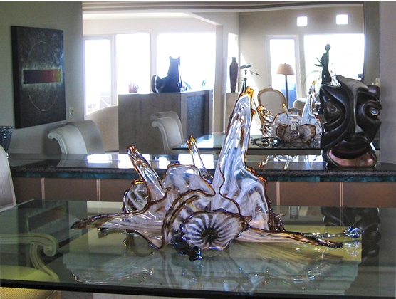 Modern Glass Sculpture