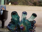 Ocean Flower Hand Blown Glass