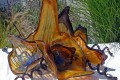 Orange Blown Glass Flowers