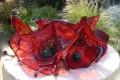 Poppy Flower Blown Glass